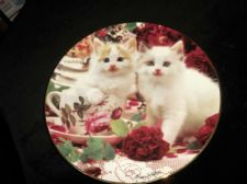 LTD ED GILDED DISPLAY PLATE HAMILTON MARY WESTON SUGAR SPICE KITTEN CAPERS 1995